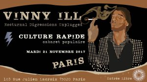 Nocturnal Digressions in Paris Unplugged le 21 Novembre à Culture Rapide