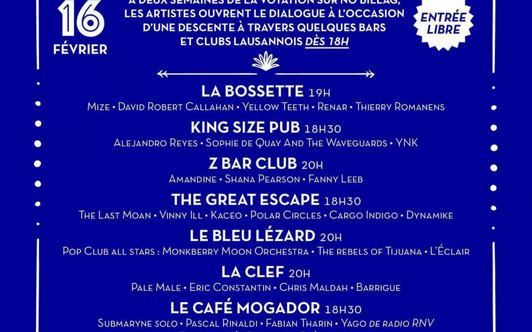 Schuss Festival – 16 Février 2018 – Vinny ILL au Great Escape – 20h00