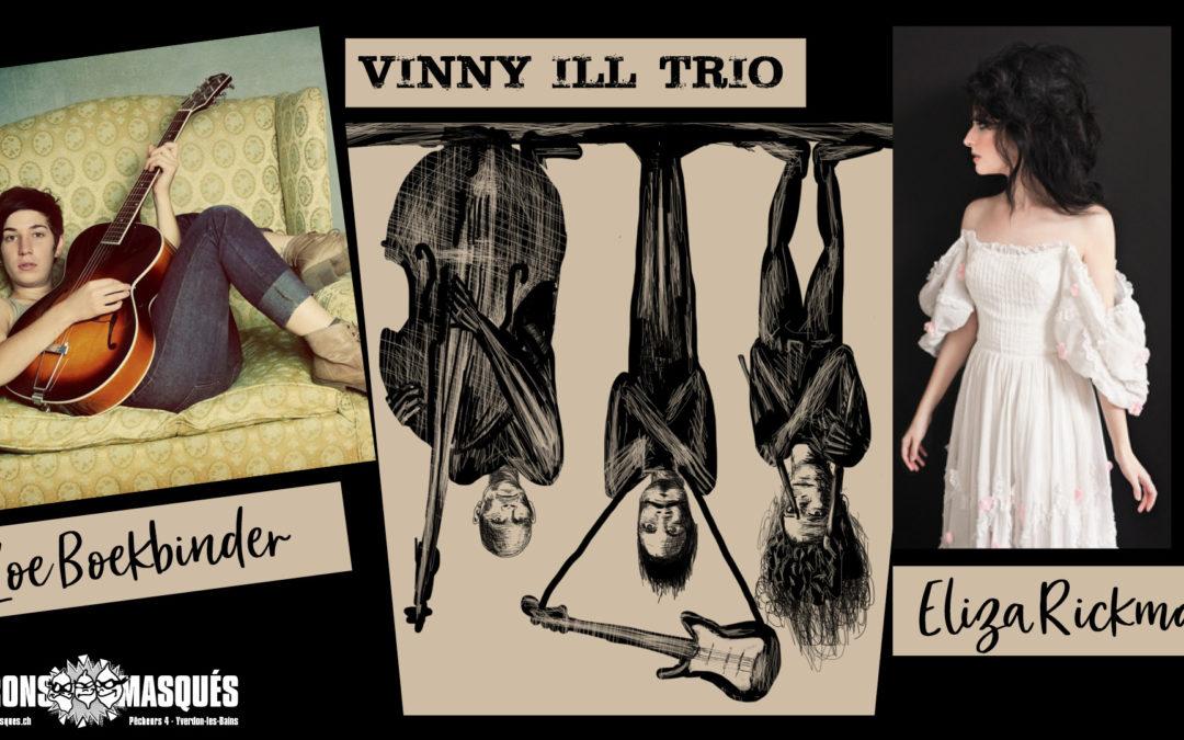 Zoe Boekbinder – Eliza Rickman- Vinny ILL Trio Live at Les Citrons Masqués – 10.10.2018
